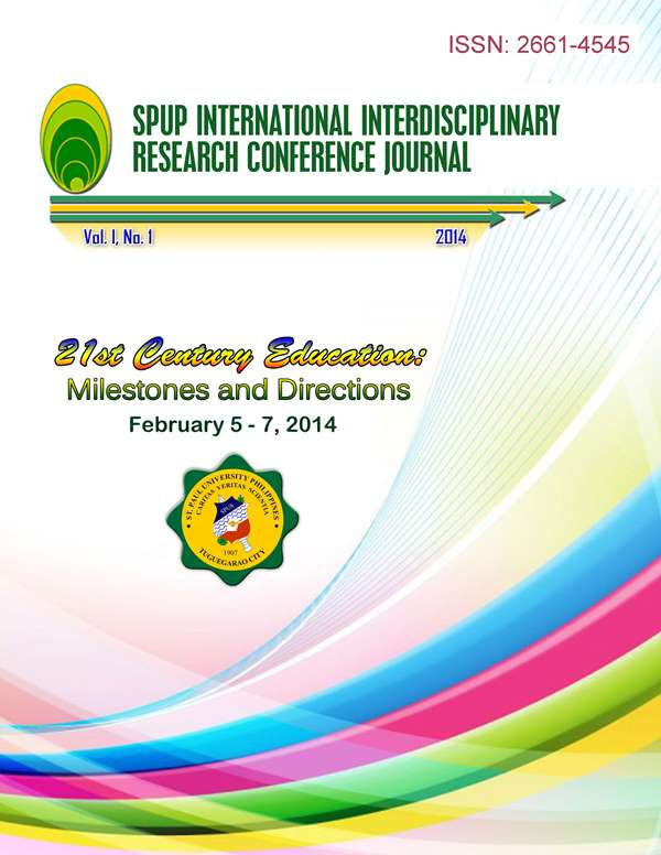 View Vol. 1 No. 1 (2014): SPUP International Interdisciplinary Research Conference Journal
