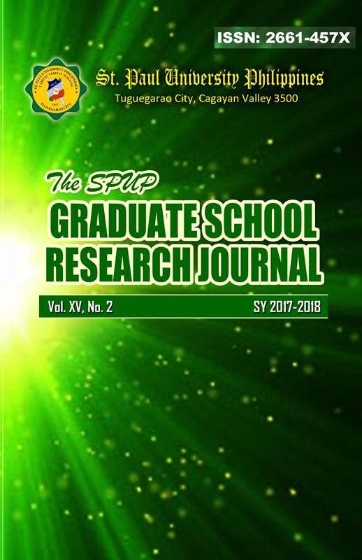 View Vol. 15 No. 2 (2017): SPUP Graduate School Research Journal